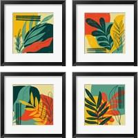 Framed Mid Century Modern  4 Piece Framed Art Print Set
