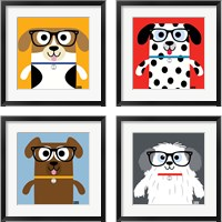 Framed Bow Wow Dogs 4 Piece Framed Art Print Set
