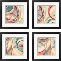 Framed Overlapping Rings 4 Piece Framed Art Print Set