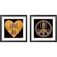 Framed Love and Live 2 Piece Framed Art Print Set