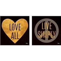 Framed Love and Live 2 Piece Art Print Set