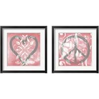 Framed Love & Peace 2 Piece Framed Art Print Set