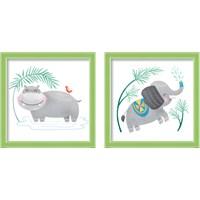 Framed Safari Cuties  2 Piece Framed Art Print Set