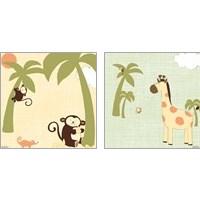Framed Baby Jungle 2 Piece Art Print Set