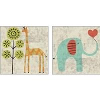 Framed Ada's Animals 2 Piece Art Print Set