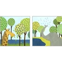 Framed Jungle Fun 2 Piece Art Print Set