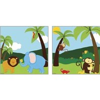 Framed Jungle Jamboree 2 Piece Art Print Set