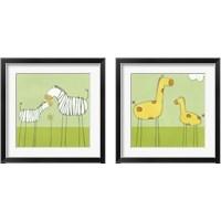Framed Children's Stick-Leg Safari 2 Piece Framed Art Print Set