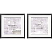 Framed Textured Sentiment Bath 2 Piece Framed Art Print Set