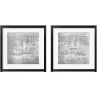 Framed Textured Sentiment Kitchen 2 Piece Framed Art Print Set
