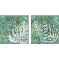 Framed Textured Sentiment Tropic 2 Piece Art Print Set