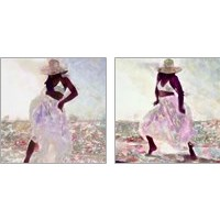 Framed Her Colorful Dance 2 Piece Art Print Set