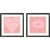 Framed Love & Kiss Me 2 Piece Framed Art Print Set