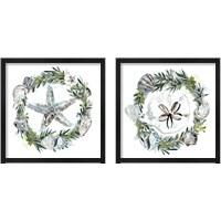 Framed Coastal Christmas Shell 2 Piece Framed Art Print Set