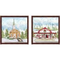 Framed Christmas Village 2 Piece Framed Art Print Set