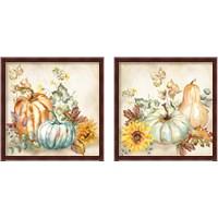 Framed Watercolor Harvest Pumpkin 2 Piece Framed Art Print Set
