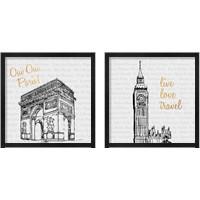 Framed Travel Pack 2 Piece Framed Art Print Set
