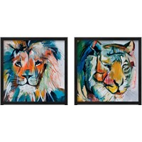 Framed Bright Aceents Animals 2 Piece Framed Art Print Set