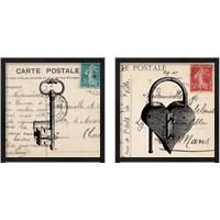 Framed Key To My Heart 2 Piece Framed Art Print Set