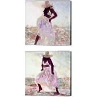 Framed Her Colorful Dance 2 Piece Canvas Print Set
