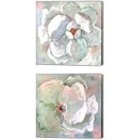 Framed Contemporary Floral 2 Piece Canvas Print Set