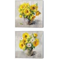 Framed Sunflower Still Life 2 Piece Canvas Print Set