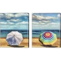 Framed Beach Umbrella 2 Piece Canvas Print Set