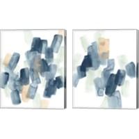 Framed Indigo Facets 2 Piece Canvas Print Set