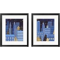 Framed Holiday Night 2 Piece Framed Art Print Set