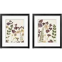 Framed Pressed Flower Arrangement 2 Piece Framed Art Print Set