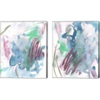 Framed Magenta Wave Form 2 Piece Canvas Print Set