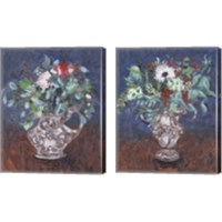 Framed Night Bouquet 2 Piece Canvas Print Set