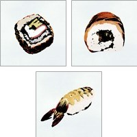 Framed Sushi Style 3 Piece Art Print Set