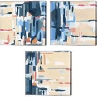 Framed Summer Abstraction 3 Piece Canvas Print Set