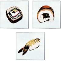 Framed Sushi Style 3 Piece Canvas Print Set