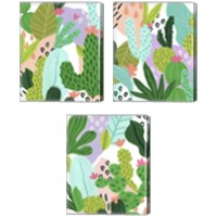Framed Party Plants 3 Piece Canvas Print Set