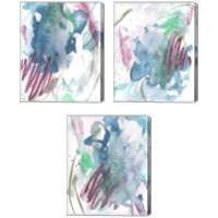 Framed Magenta Wave Form 3 Piece Canvas Print Set