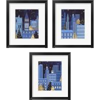 Framed Holiday Night 3 Piece Framed Art Print Set