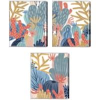 Framed Paper Reef 3 Piece Canvas Print Set