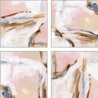 Framed Salt Flat Tracks 4 Piece Art Print Set