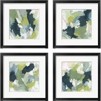 Framed Emerald Storm 4 Piece Framed Art Print Set