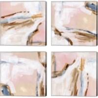 Framed Salt Flat Tracks 4 Piece Canvas Print Set