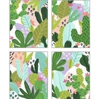 Framed Party Plants 4 Piece Art Print Set