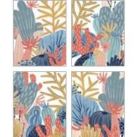 Framed Paper Reef 4 Piece Art Print Set