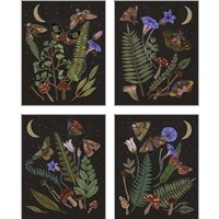 Framed Dark Forest 4 Piece Art Print Set