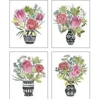 Framed Protea Awakening 4 Piece Art Print Set