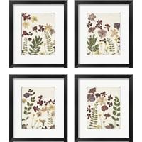 Framed Pressed Flower Arrangement 4 Piece Framed Art Print Set