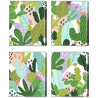 Framed Party Plants 4 Piece Canvas Print Set