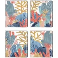 Framed Paper Reef 4 Piece Canvas Print Set