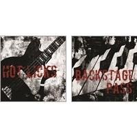 Framed Grunge Music 2 Piece Art Print Set